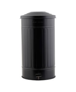 www.jetathome.nl - House Doctor garbage bin matt black