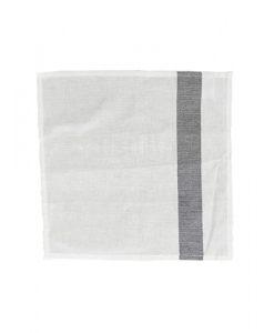 www.jetathome.nl mijn stijl katoenen servet wit-zwarte streep
