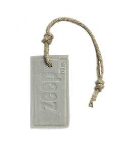 www.jetathome.nl puur zeep zeephanger rechthoek XXL lichtgrijs parfum katoen 175 gram