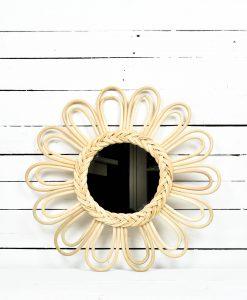 """www.jetathome.nl rotan spiegel """"sunflower"""""""